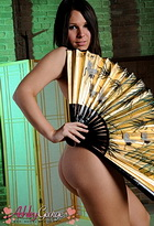 Geisha girl. Adorable teen ladyboy Ashley George posing as a geisha